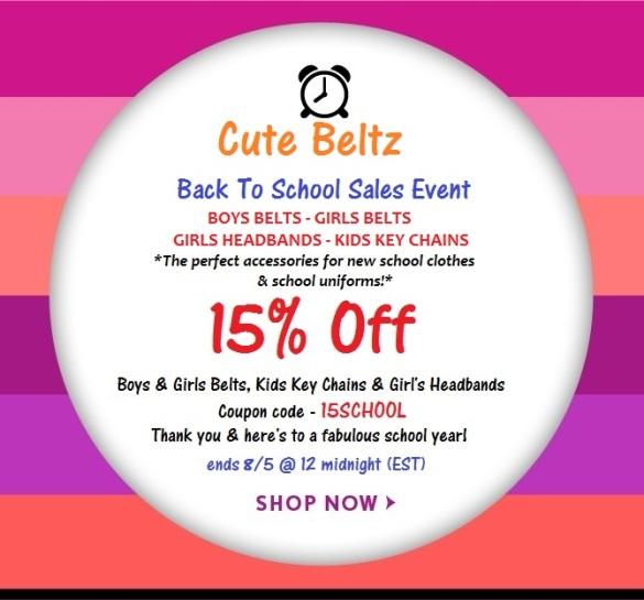 Cute Beltz Back To School Sale!