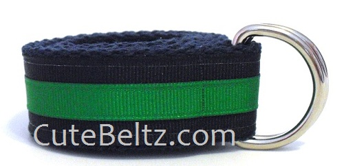 Navy & Green Preppy Boys Belt