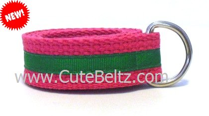 Cute Beltz Pink & Green Girls Belt