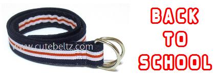 Nautical Boys D-ring Belt by Cute Beltz