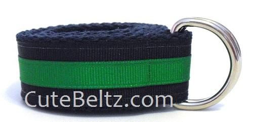 Navy & Green Preppy Boys Belt