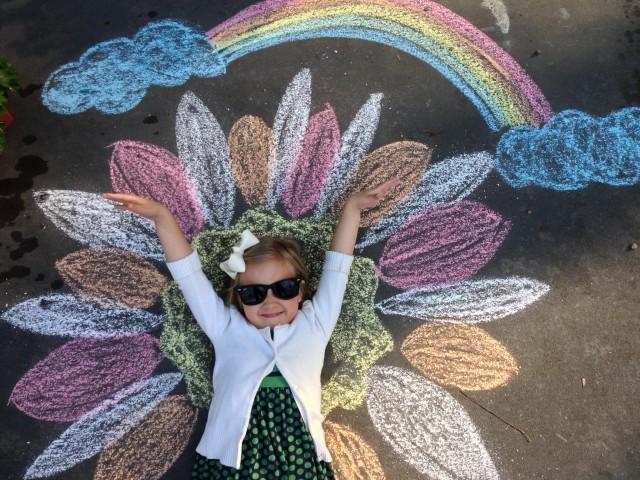 Chalk art photo props