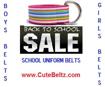 Kids Belts for School Uniforms & Everyday Kids Wear