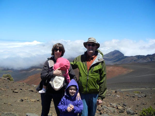Family at Haleakala Crater Maui